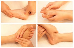 Reflexology foot massage in Durham